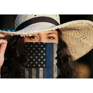 COPY - Thin Blue Line American Flag Face Mask Nec…
